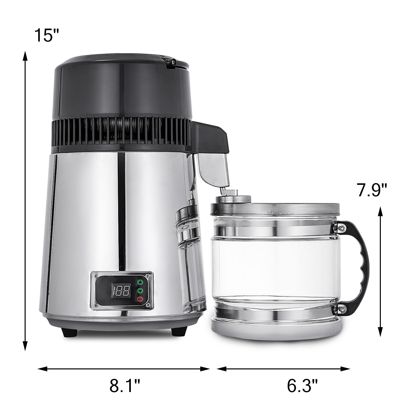 750W-4L-Wasser-Destilliergeraet-Water-Distiller-Einmachglas-Wasserflasche-Zuhause Indexbild 62