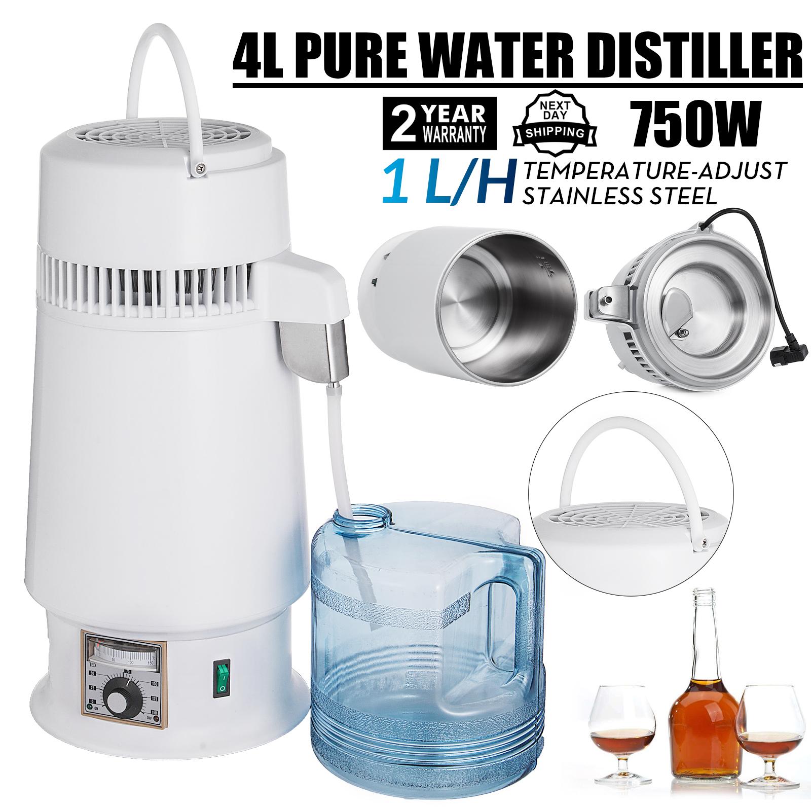 750W-4L-Wasser-Destilliergeraet-Water-Distiller-Einmachglas-Wasserflasche-Zuhause Indexbild 73