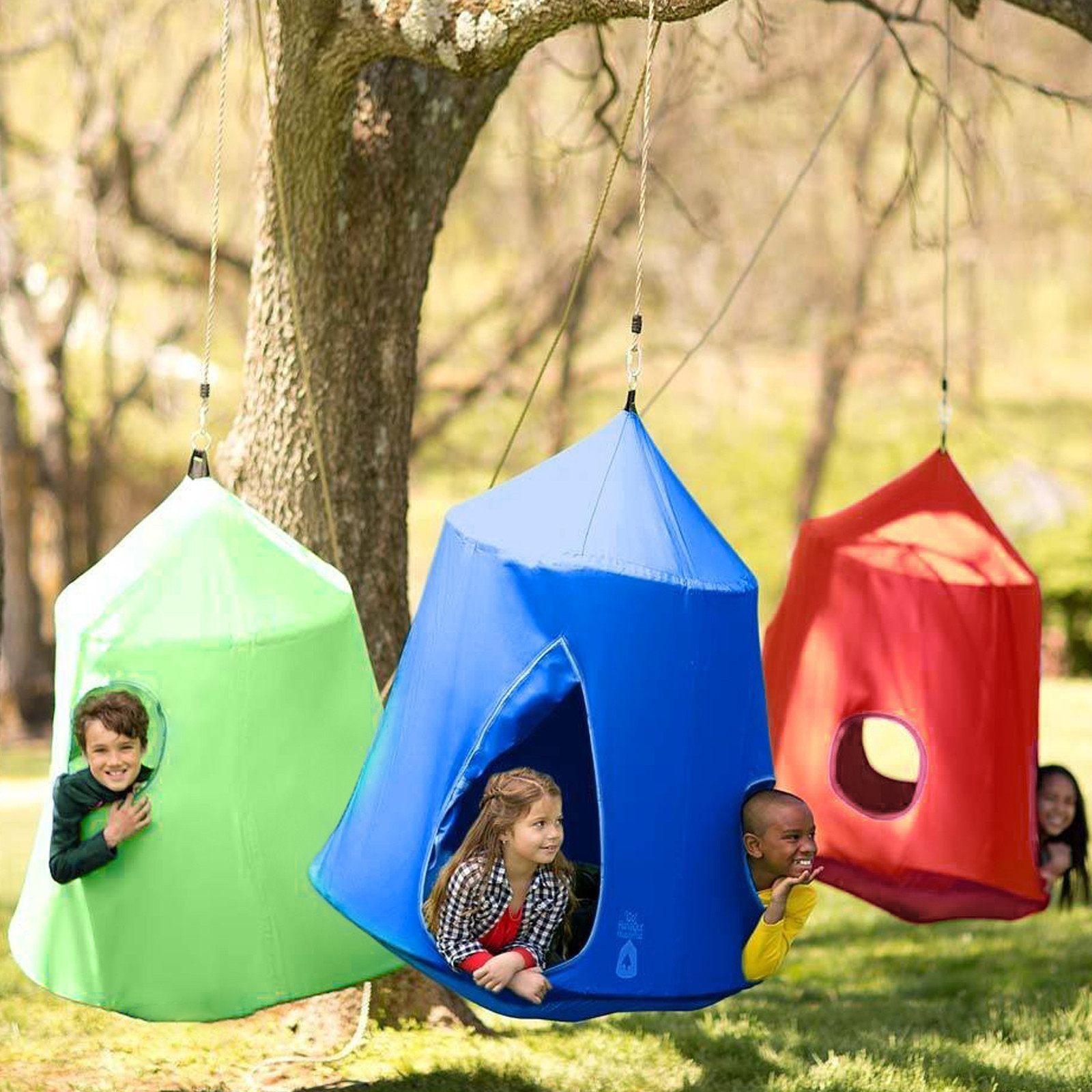 Kids Hanging Lights: Colourful Hang Out Hanging Tree Tent With LED String