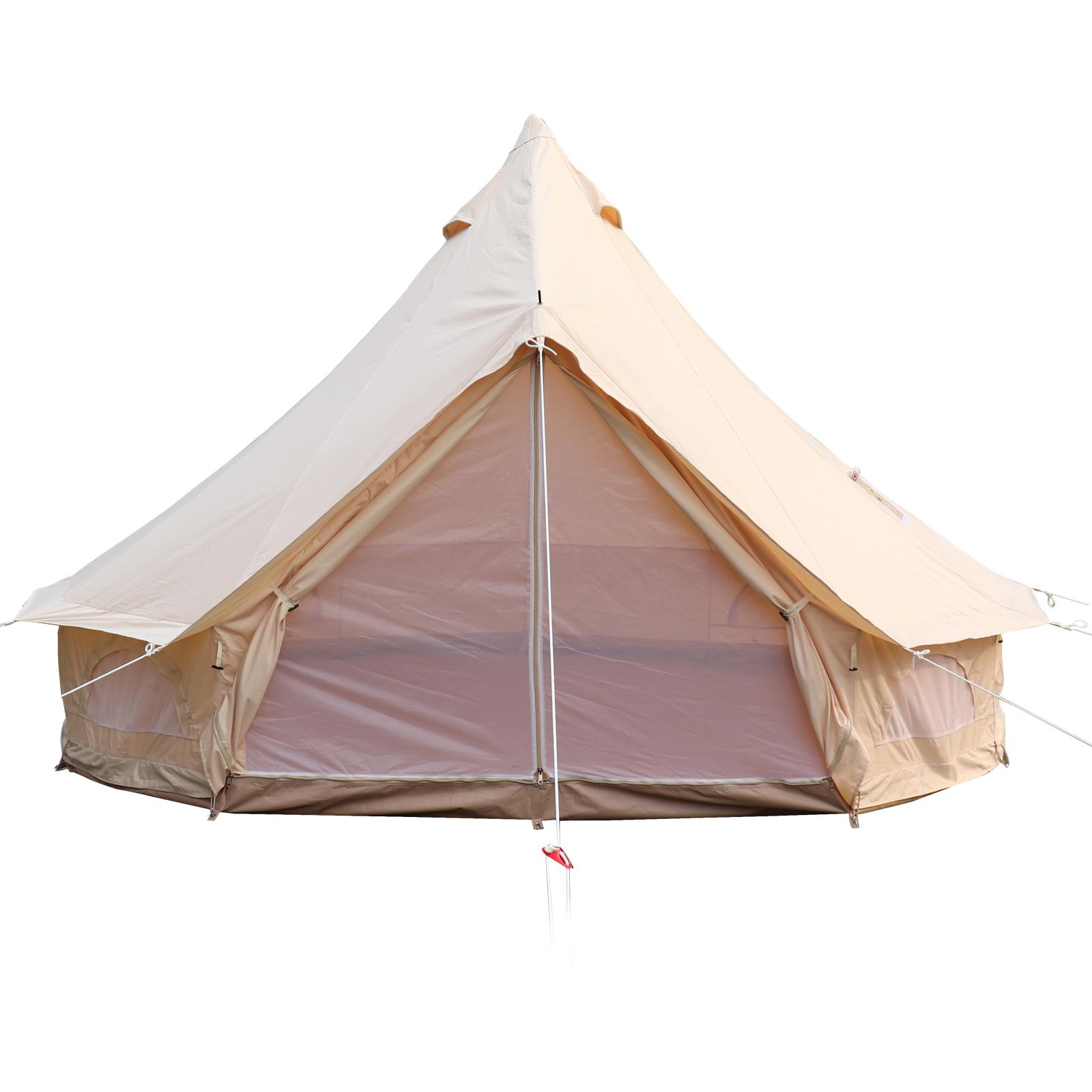 4-Season-Bell-Tent-3-4-5-6M-Waterproof-Cotton-Canvas-Glamping-Camping-Beach-US thumbnail 22