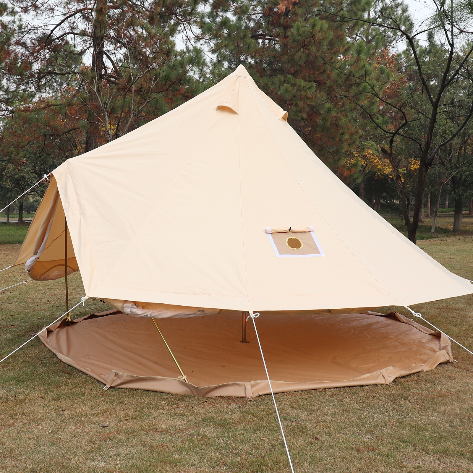 4-Season-Bell-Tent-3-4-5-6M-Waterproof-Cotton-Canvas-Glamping-Camping-Beach-US thumbnail 35
