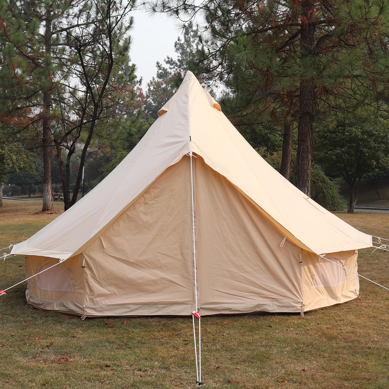 4-Season-Bell-Tent-3-4-5-6M-Waterproof-Cotton-Canvas-Glamping-Camping-Beach-US thumbnail 48