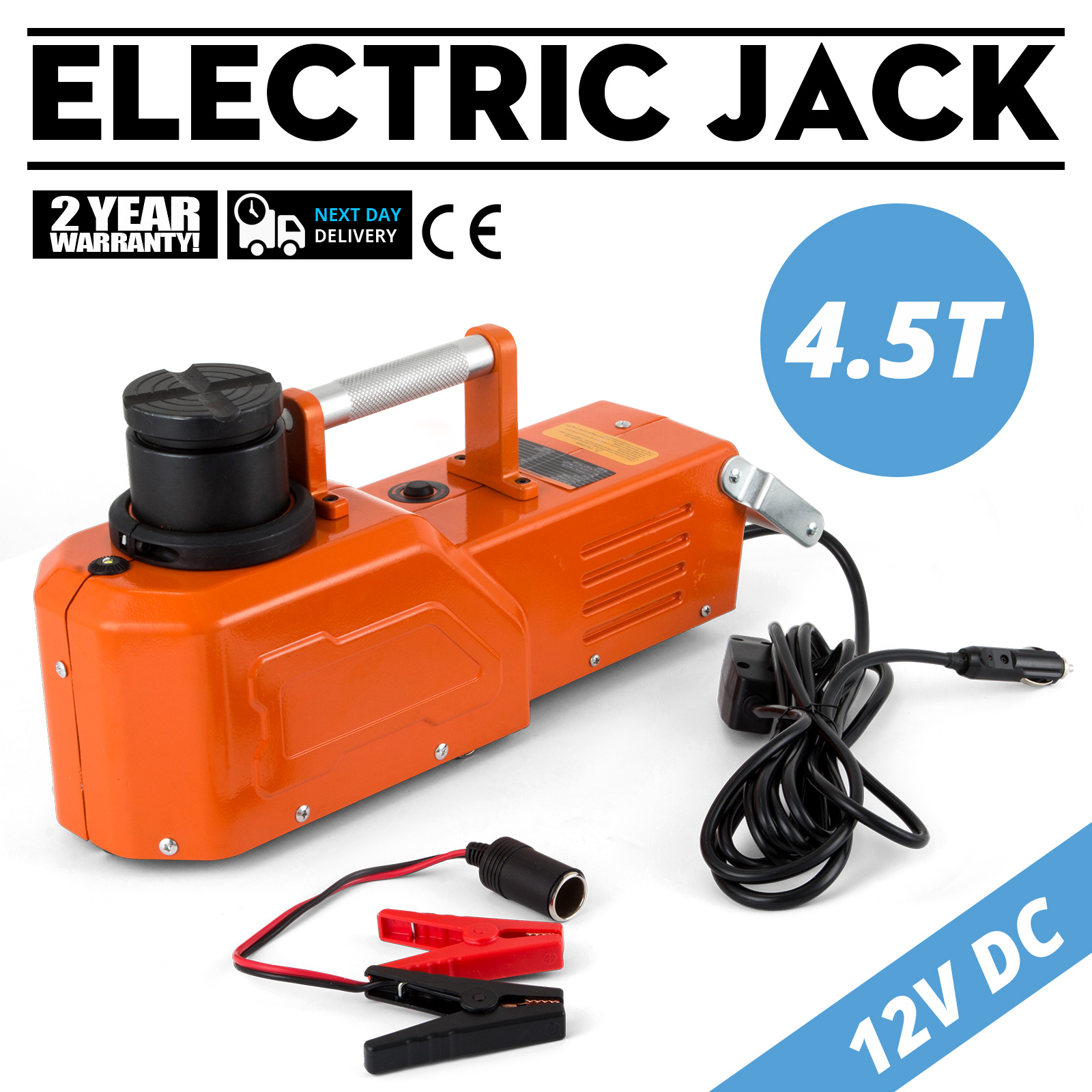 12V Hydraulic Floor Jack Electric Car Lift 9900lbs