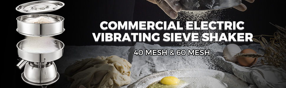 VBENLEM Automatic Sieve Shaker 12 Mesh /& 80 Mesh Stainless Steel Vibrating Sieve Machine 110V 50W with Screens Sifter Shaker Machine for Rice /& Herbal Powder Particles