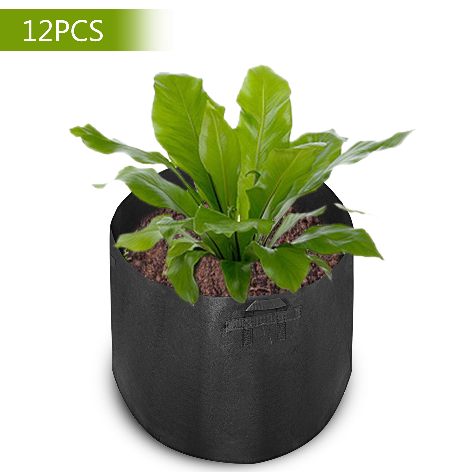 5//100//200Pcs Fabric Grow Pots Aeration Plant Planter Bags Root Garden Container
