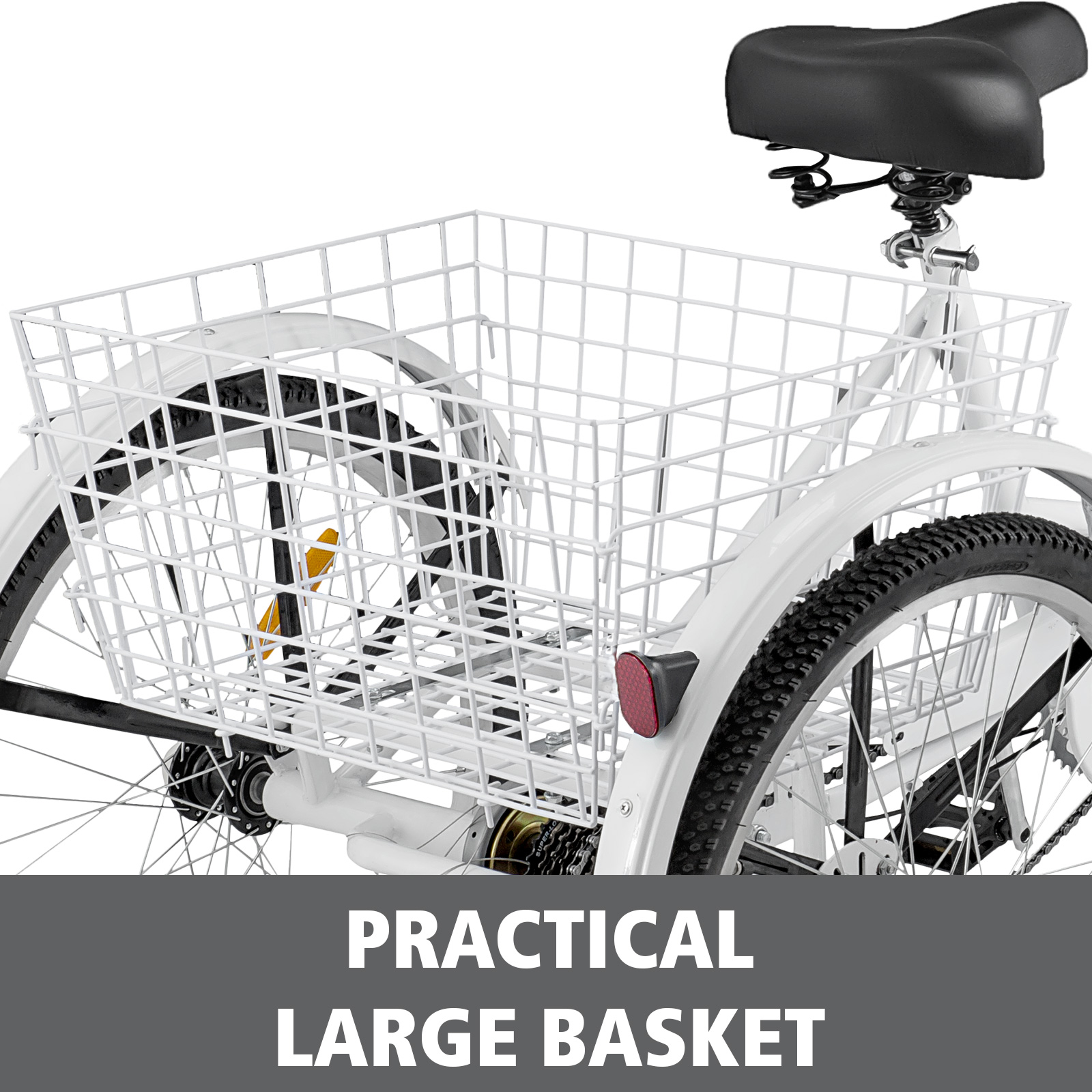 20-24-26-034-Adult-Tricycle-1-7-Speed-3-Wheel-Large-Basket-For-Shopping-Optional thumbnail 235