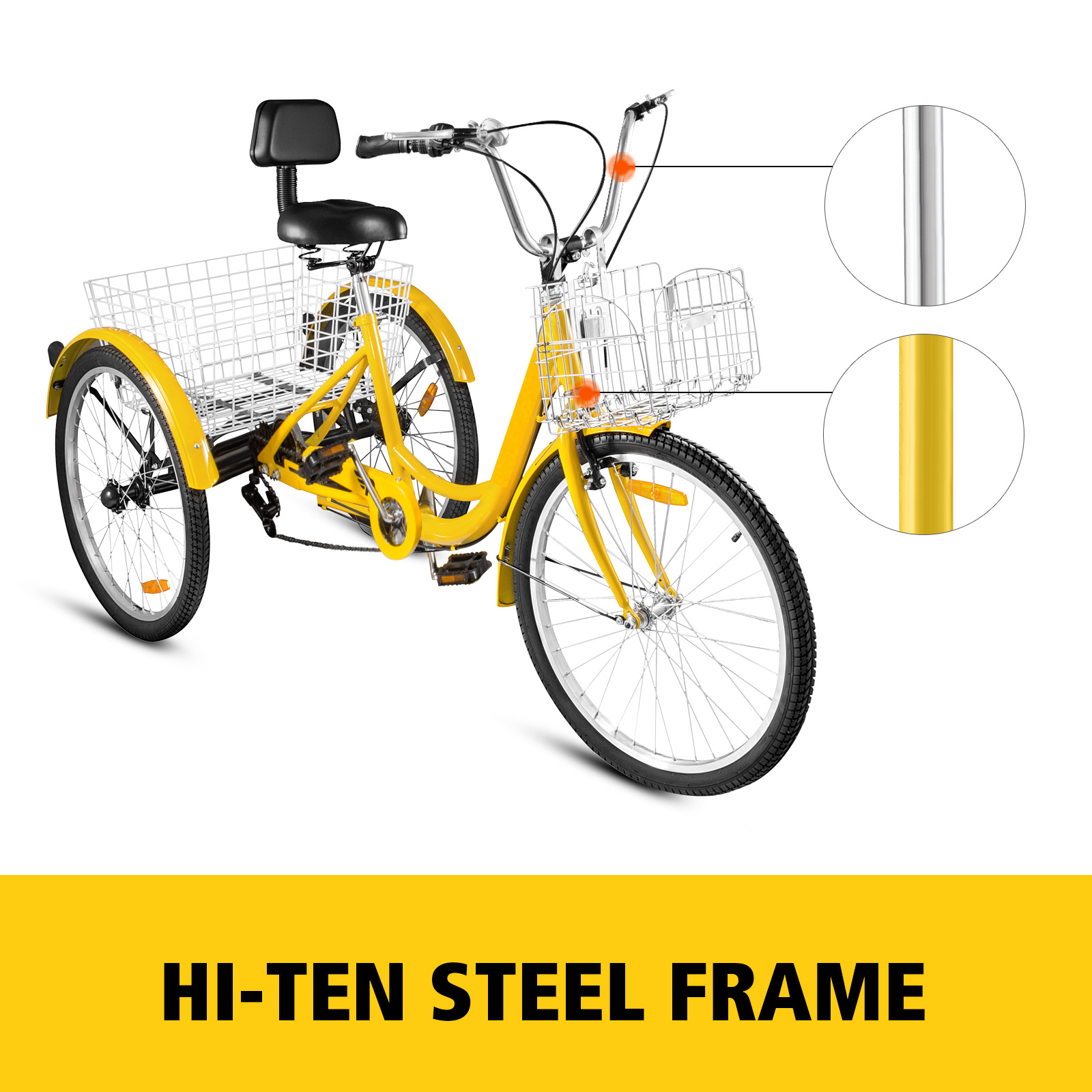 20-24-26-034-Adult-Tricycle-1-7-Speed-3-Wheel-For-Shopping-W-Installation-Tools miniature 374
