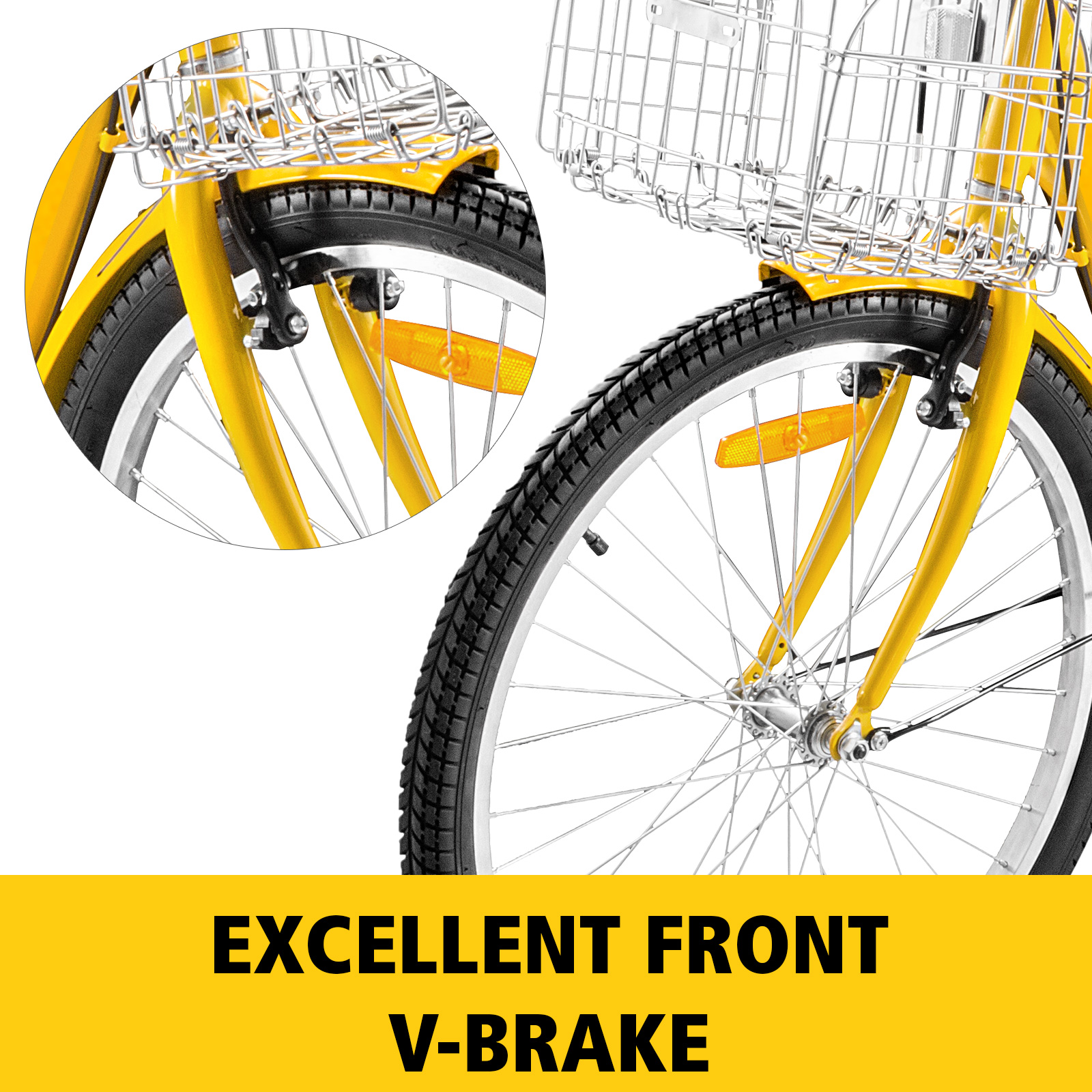 20-24-26-034-Adult-Tricycle-1-7-Speed-3-Wheel-For-Shopping-W-Installation-Tools miniature 376