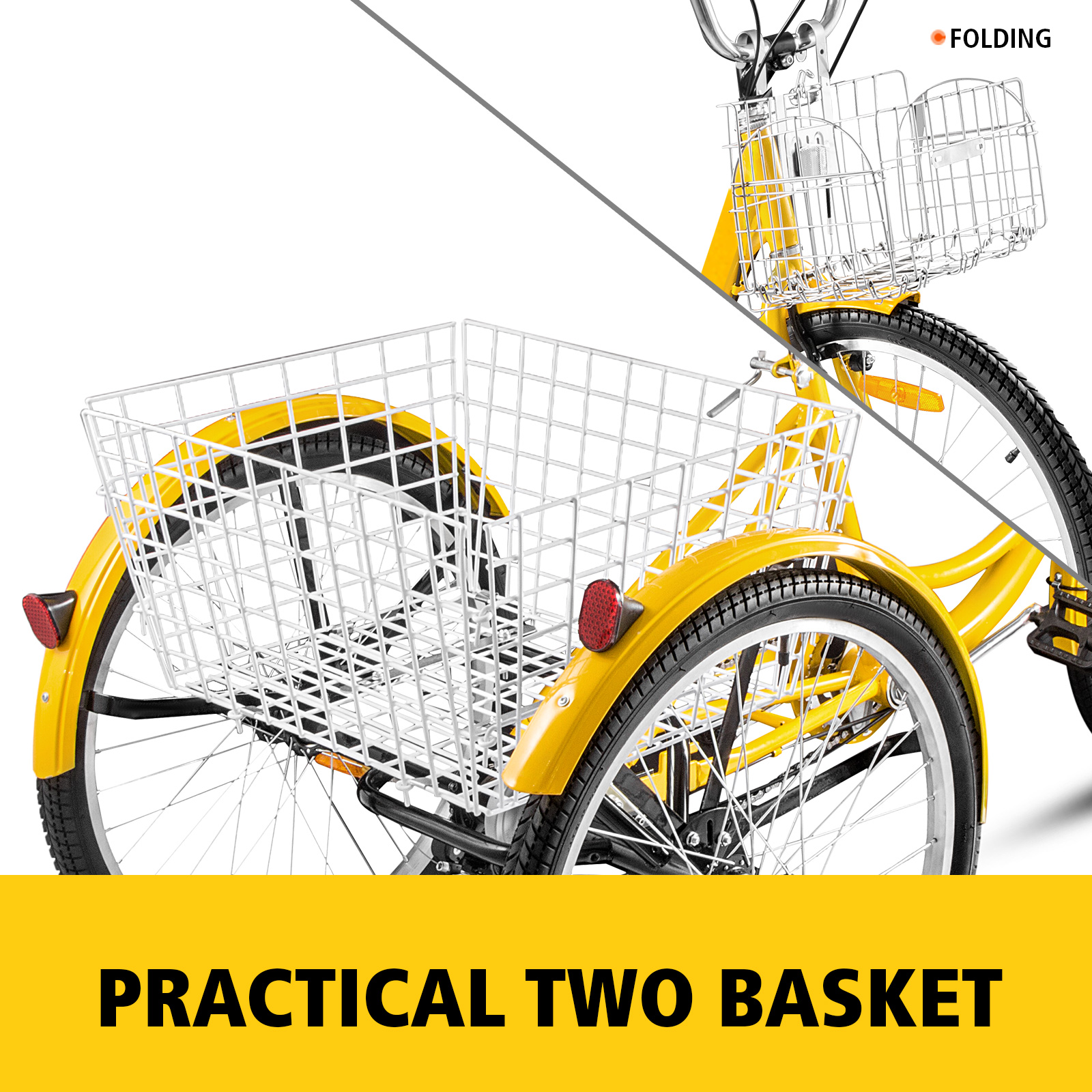 20-24-26-034-Adult-Tricycle-1-7-Speed-3-Wheel-For-Shopping-W-Installation-Tools miniature 379