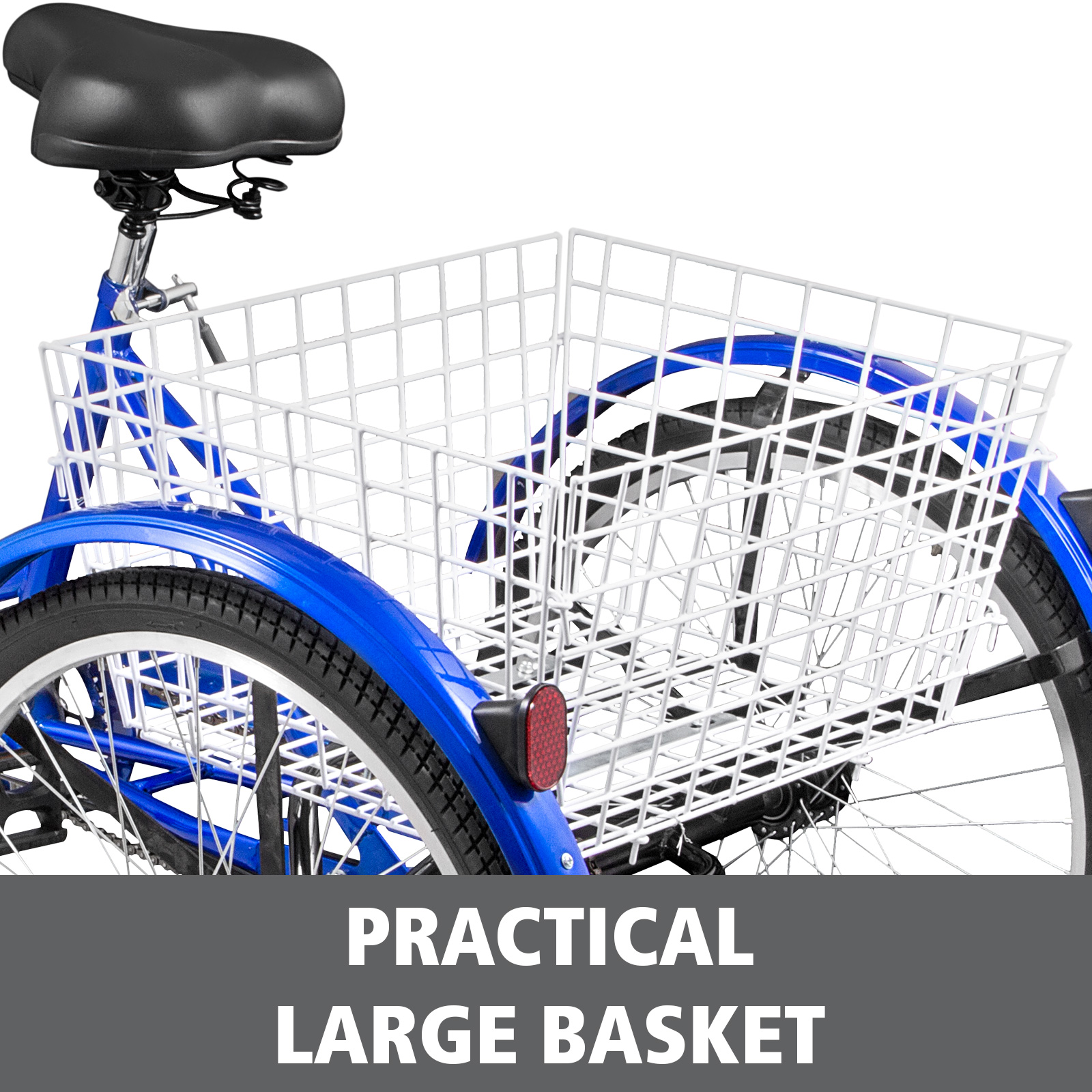 20-24-26-034-Adult-Tricycle-1-7-Speed-3-Wheel-Large-Basket-For-Shopping-Optional thumbnail 295