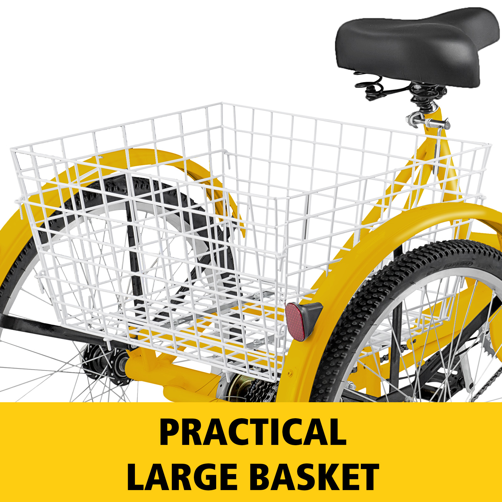 20-24-26-034-Adult-Tricycle-1-7-Speed-3-Wheel-Large-Basket-For-Shopping-Optional thumbnail 319