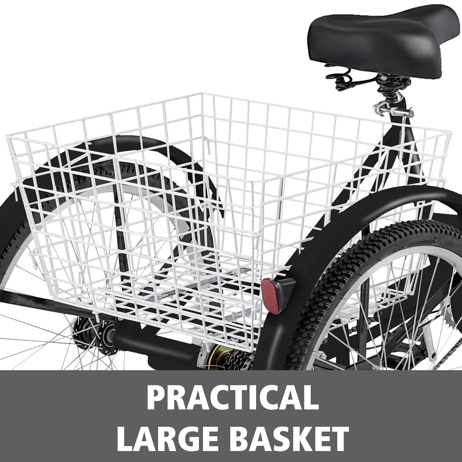20-24-26-034-Adult-Tricycle-1-7-Speed-3-Wheel-Large-Basket-For-Shopping-Optional thumbnail 355
