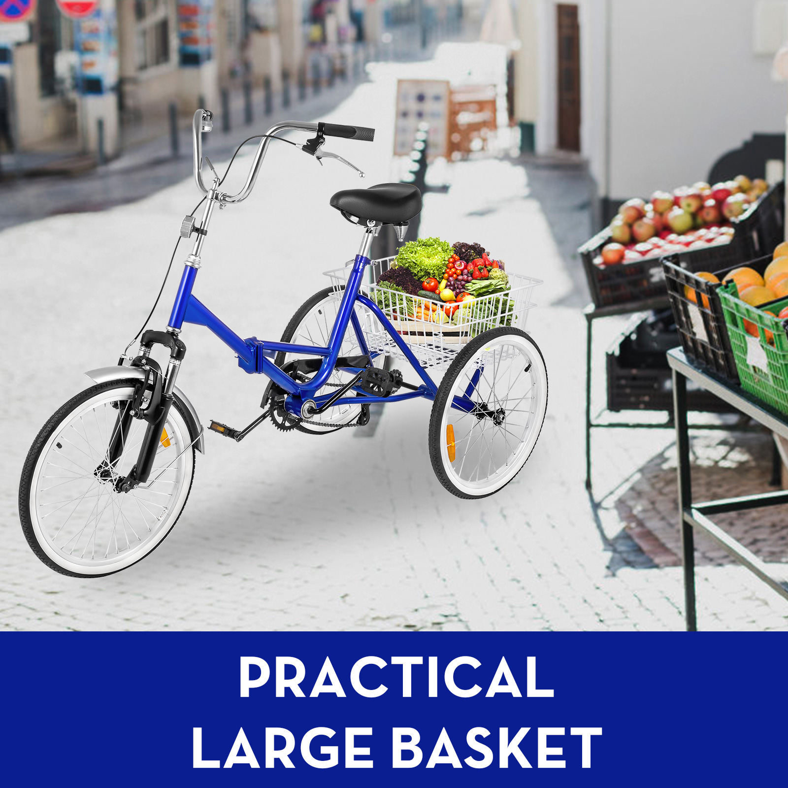 20-24-26-034-Adult-Tricycle-1-7-Speed-3-Wheel-Large-Basket-For-Shopping-Optional thumbnail 55