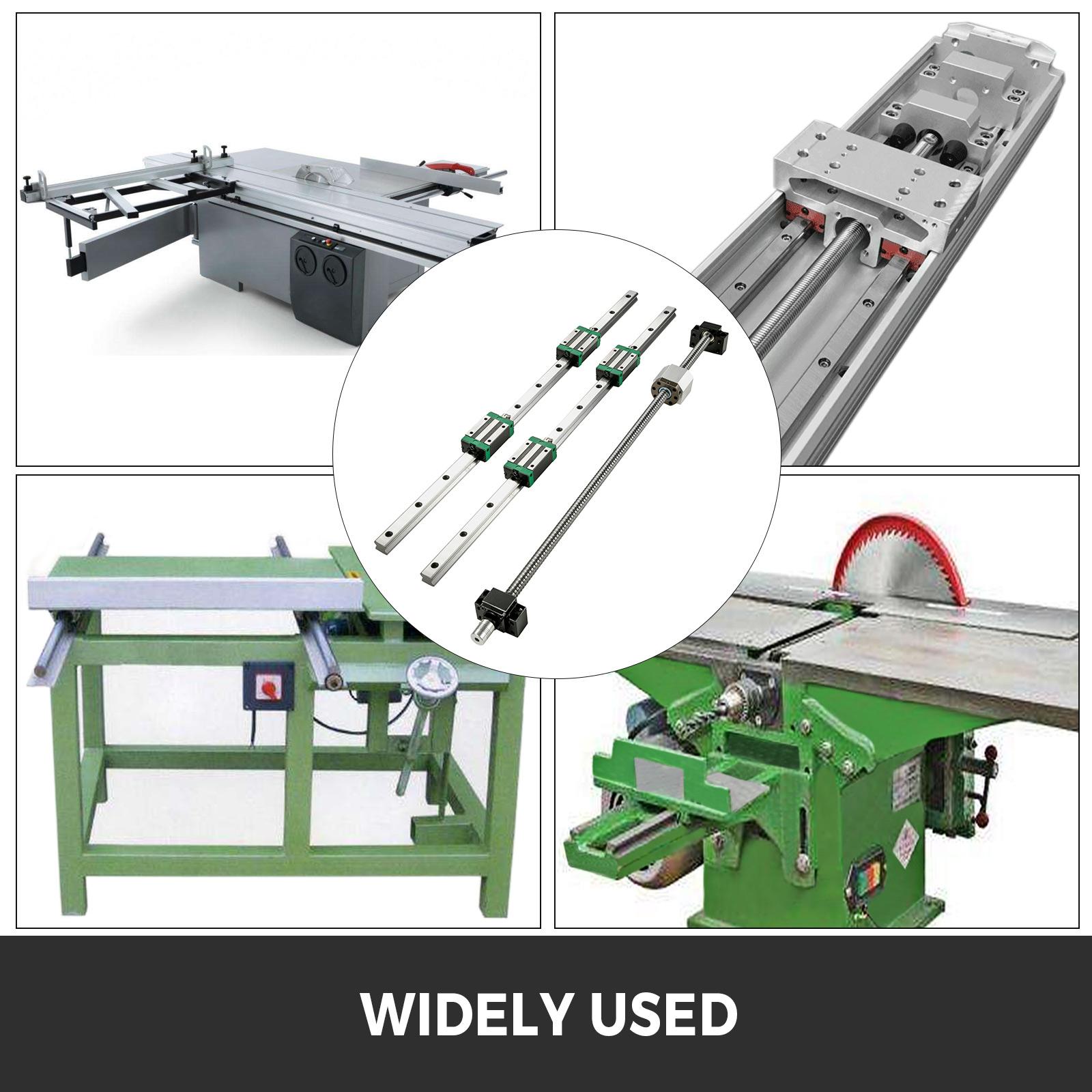 Linearführung Linearschiene HGR 20-2000mm mit 4PCS Block für CNC 3D Drucker