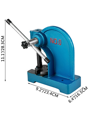 Arbor Press 0.5 Ton Lever Bench Mountable Bearings Cast Iron Manual Desktop