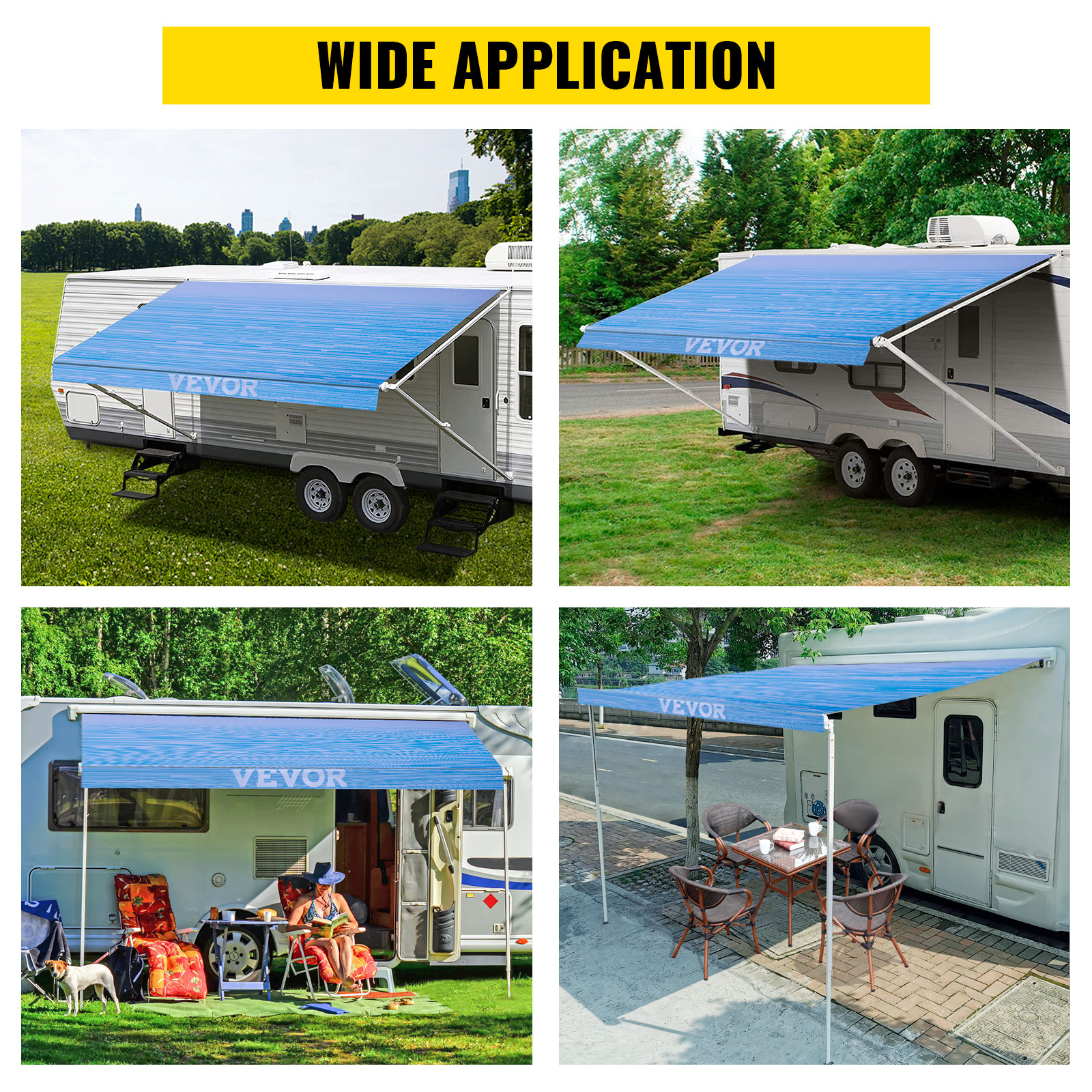 Awning Replacement Fabric Canopy 15'-20' FT For RV Camper ...