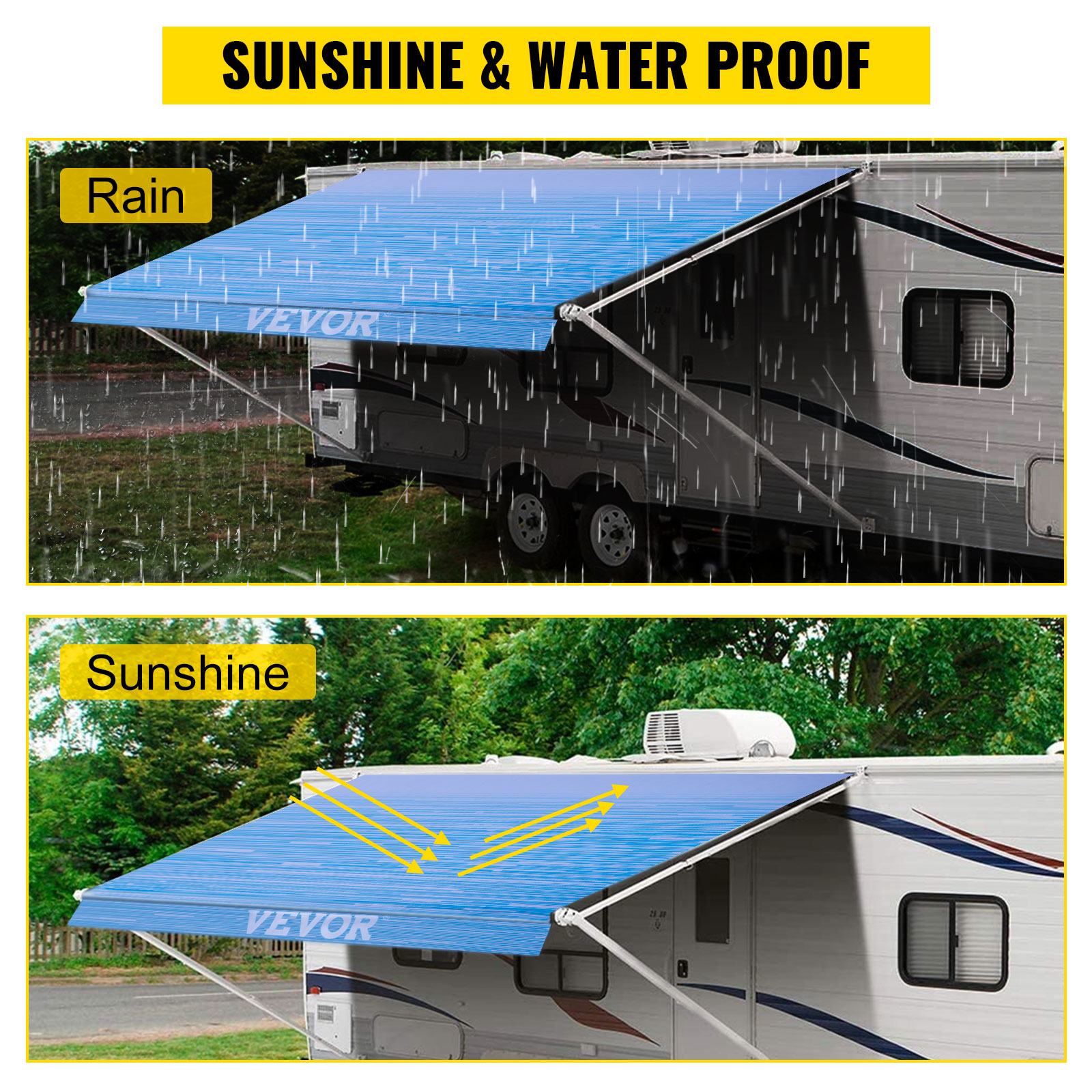 Awning Replacement Fabric Canopy 19' For RV Camper Trailer ...