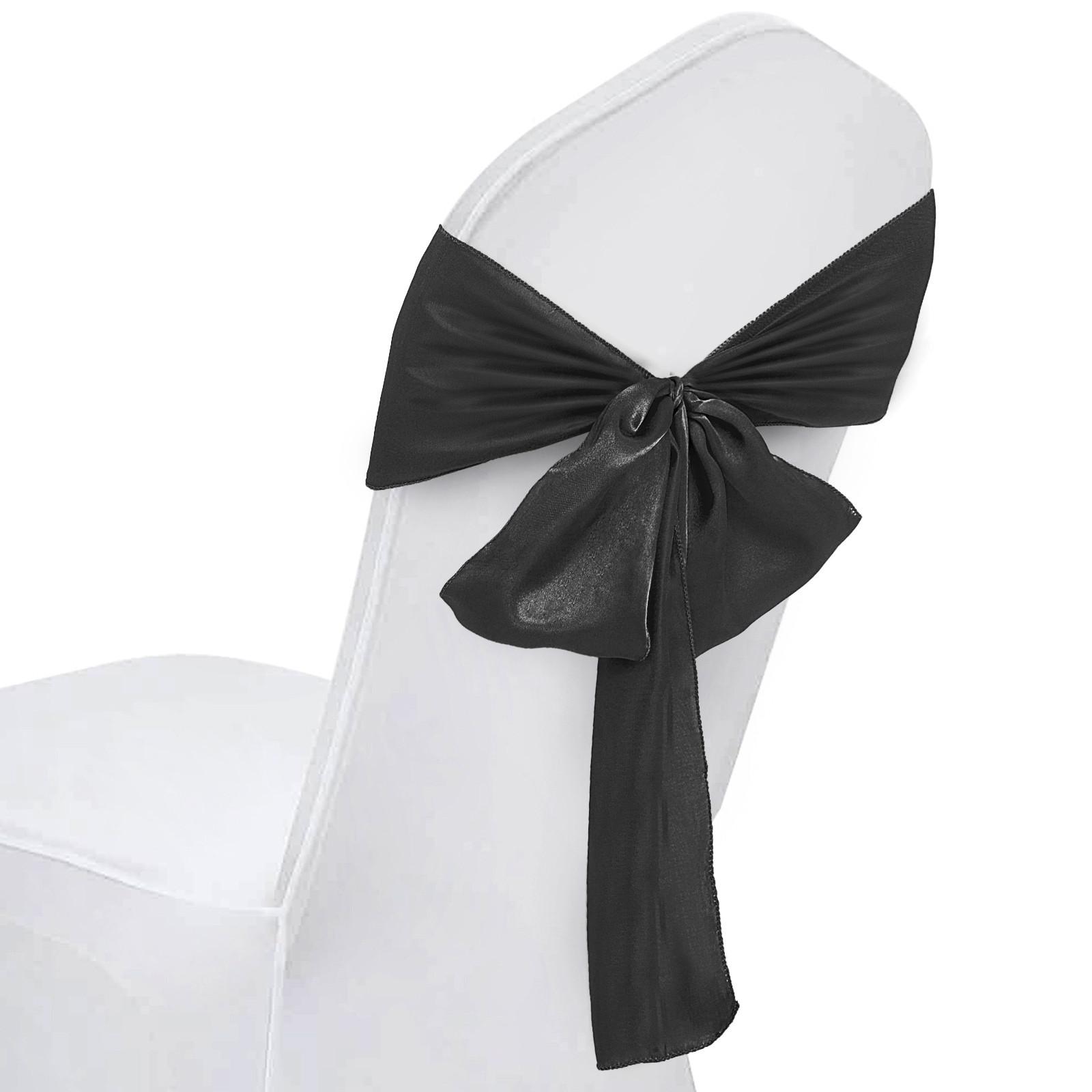 100PCS-Ruban-Noeud-de-Chaise-Housse-Echarpe-Decoration-Fete-Mariage-Restaurant miniature 86