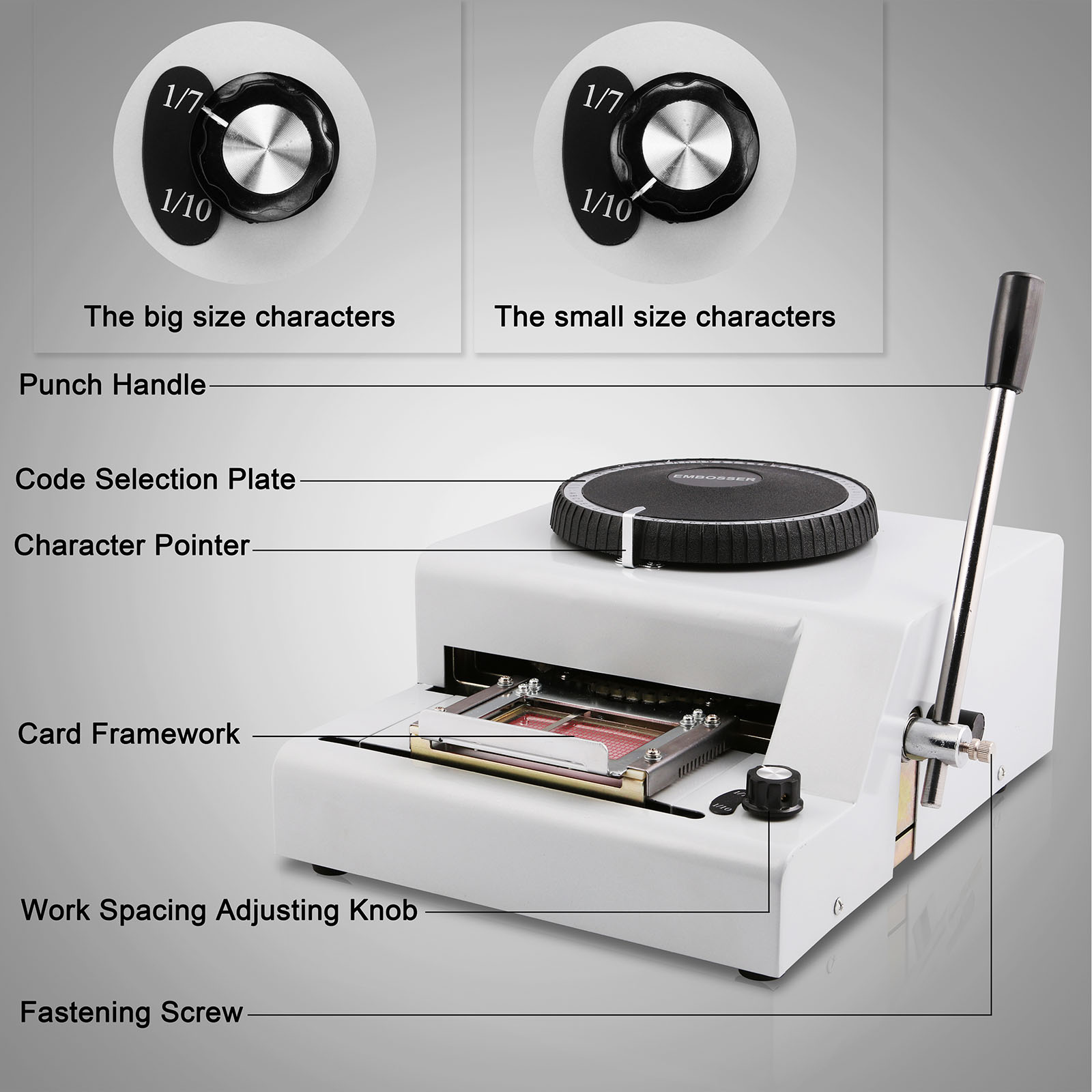 72 Charac To Adopt Advanced Technology Home Appliances Eu Free Shipping Embosser 72 Character Card Embossing Machine For Pvc Gift Card Vip Id Membership Stamping Embossing