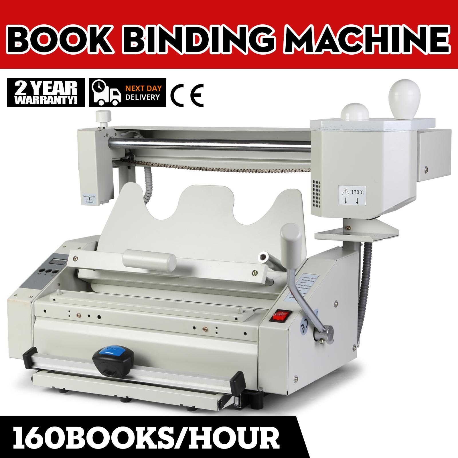 Manual Hot Glue Book Binder Wireless Binding Machine 220V
