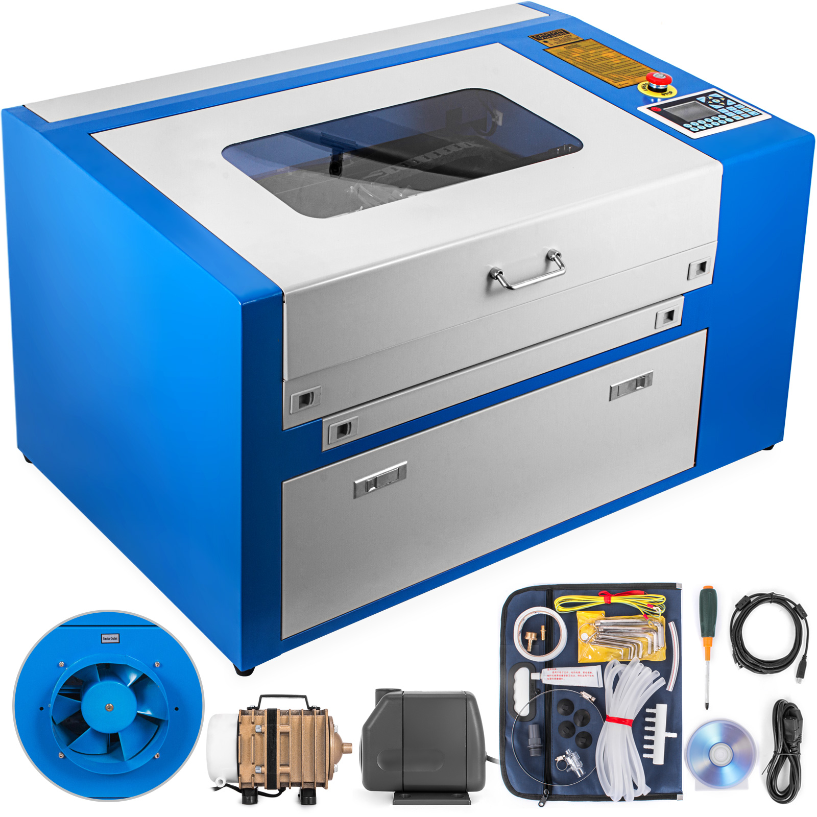 machine laser graver co2 cutter 50w laser engraver engraving machine printer ebay. Black Bedroom Furniture Sets. Home Design Ideas