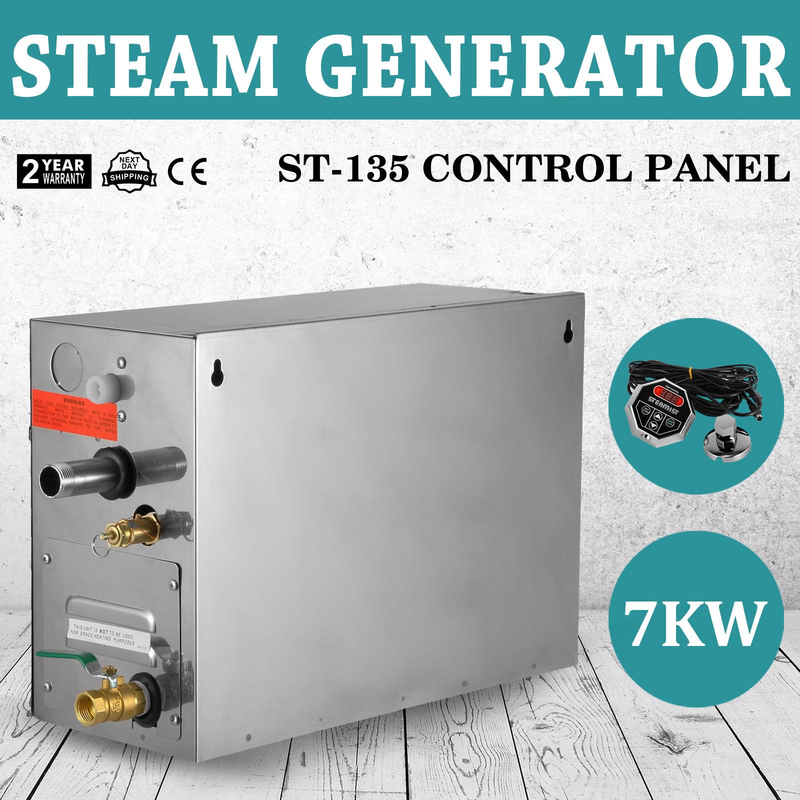 7KW STEAM GENERATOR/SAUNA BATH HOME SPA SHOWER & ST-135 CONTROLLER ...