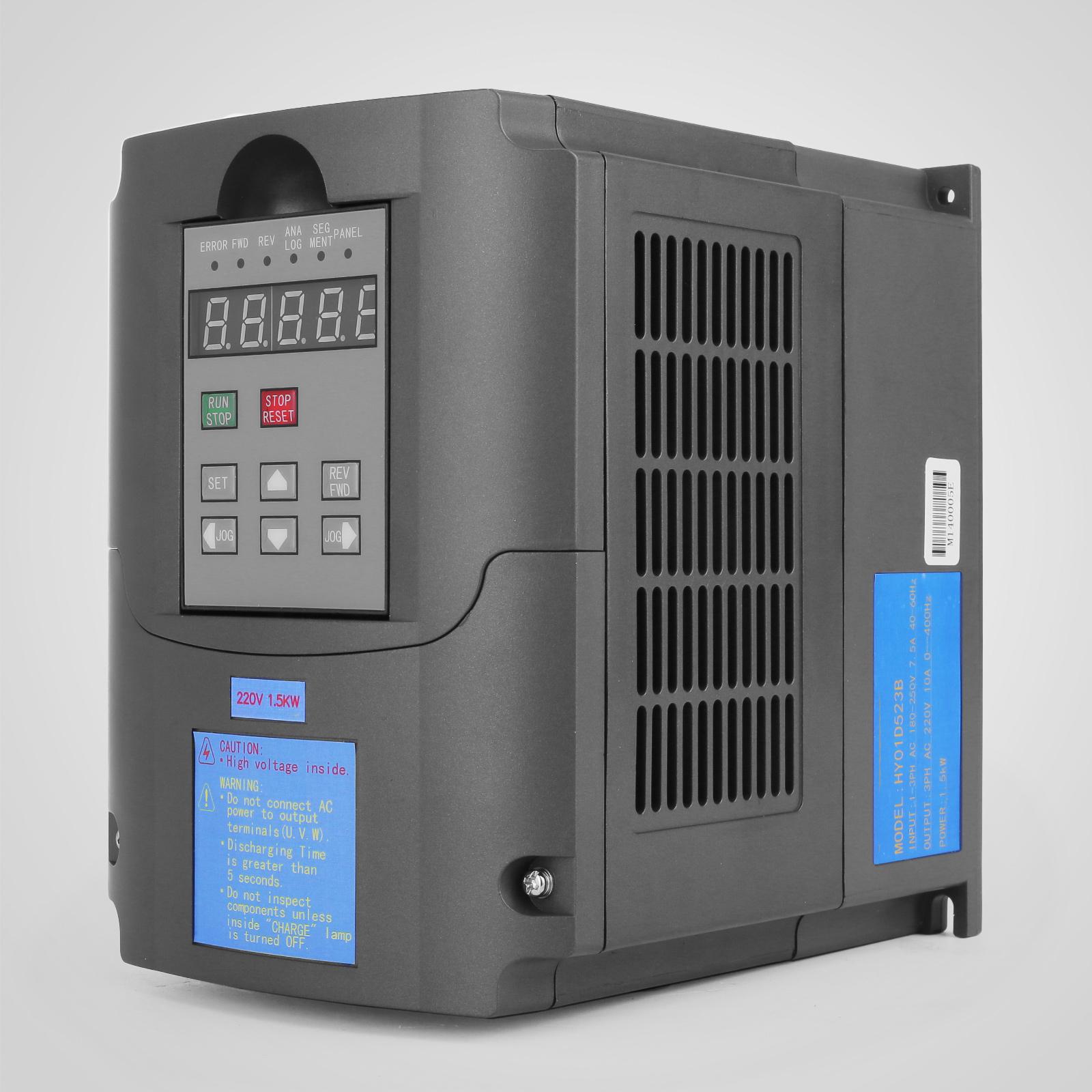 1 5kw 2hp vfd 220 250v variable frequency drive inverter for Single phase motor inverter